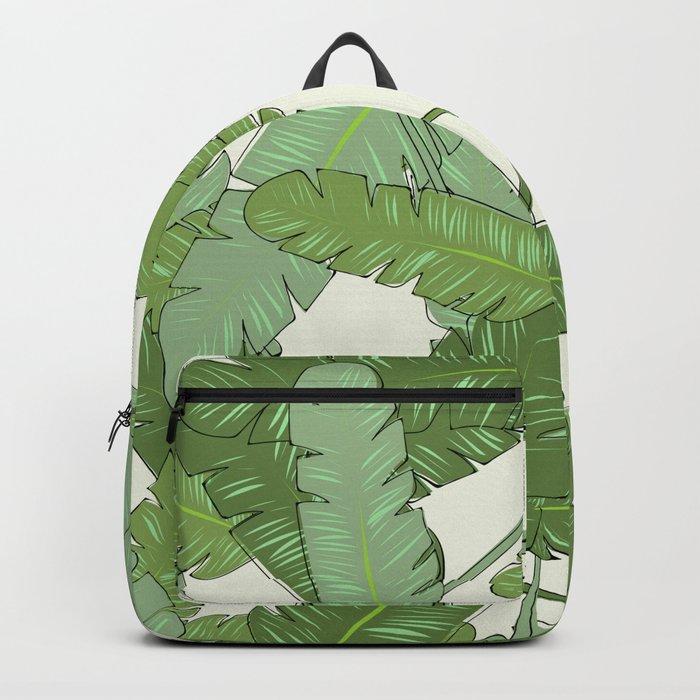 Banana Leaf Print Backpack