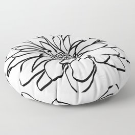 Flower (white) Floor Pillow