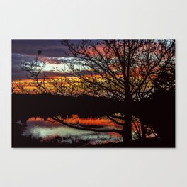 Halibut Point Sunset Canvas Print
