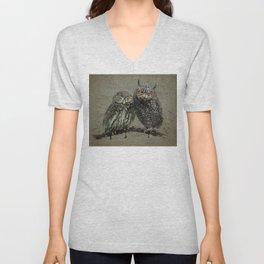 Little owl's background Unisex V-Neck