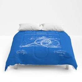 Machine Gun Patent - Blueprint Comforters