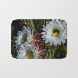 White Argentine_Giant_Cacti in Bloom Bath Mat