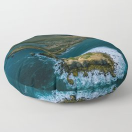 Coast of Portugal Floor Pillow