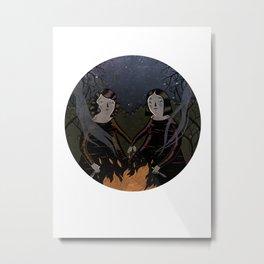 BFFs Witches Metal Print