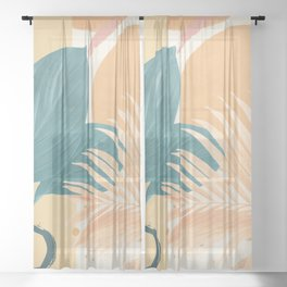 Abstract Tropical Art XII Sheer Curtain