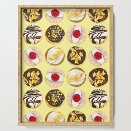 I donut think I can live without you (Yellow) Serving Tray