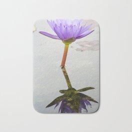 Blue Lotus Reflection Bath Mat