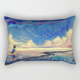 Bicycle Journey Abstract Rectangular Pillow