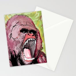 The gorilla  Stationery Cards