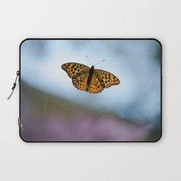Orange Butterfly Laptop Sleeve