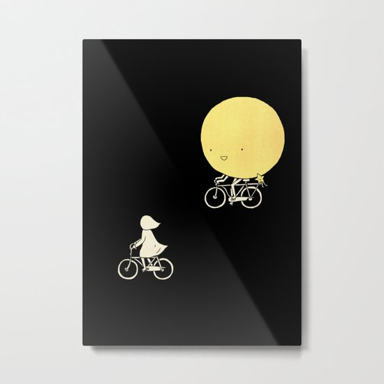 The moon and me Metal Print