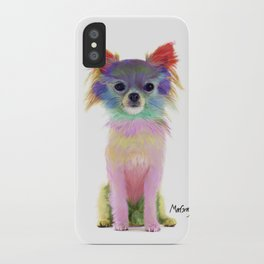 Colorful Chihuahua Dog Art By Daniel MacGregor iPhone Case