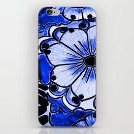 Indigo Blue Flower iPhone Skin