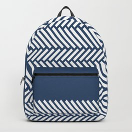 Herringbone Boarder Navy Backpack