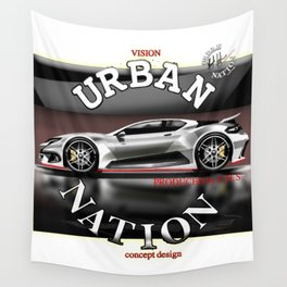 Sport Car concept - Accessories & Lifestyle Wall Tapestry