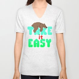 Grizzly Bear - Take It Easy Unisex V-Neck