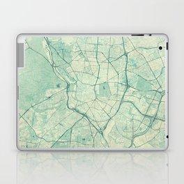 Madrid Map Blue Vintage Laptop & iPad Skin