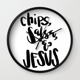 chips, salsa, & Jesus Wall Clock
