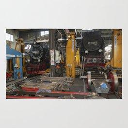 Disassembled steam locomotive Rug