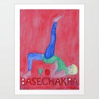 Base Chakra One Leg Up Pose Art Print