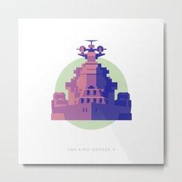 Battleship King George V Metal Print