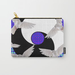 AQUA-LILAC FLYING DOVES Taoism/Daoism ART Carry-All Pouch