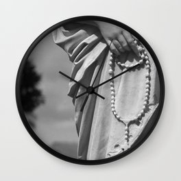 Hands That Pray Wall Clock