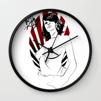 girl power Wall Clocks featuring Girl Power by Sirenphotos