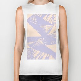 Modern lilac ivory violet geometrical shapes patterns Biker Tank