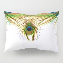 GORGEOUS BLUE-GREEN PEACOCK FEATHERS ART Pillow Sham