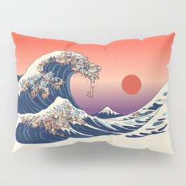 The Great Wave of Dachshunds Pillow Sham