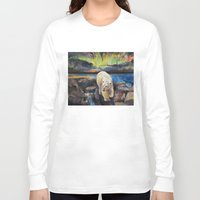 northern lights Long Sleeve T-shirts featuring Northern Lights by Michael Creese