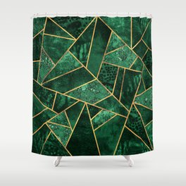 Deep Emerald Shower Curtain