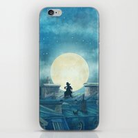kindle iPhone & iPod Skins featuring Rooftoppers by Terry Fan