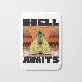 Hell Awaits Bath Mat