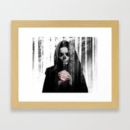Death Waits Framed Art Print