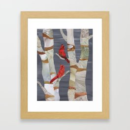 Birch please Framed Art Print