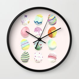 Painted Easter Eggs Wall Clock