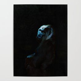 Humanity - Mountain Gorilla in Moonlight Poster