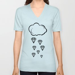 rain of diamonds Unisex V-Neck