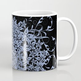 Girl's profile on floral background Coffee Mug
