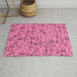 Pink Halloween Pattern Rug