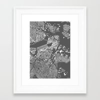 boston map Framed Art Prints featuring Boston by Maps Factory