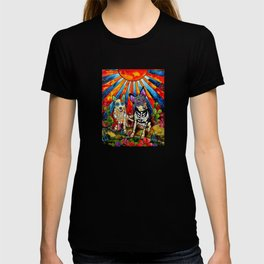 Australian Cattle Dog Sugar Skull Painting T-shirt