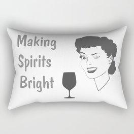 Making Spirits Bright Holiday Rectangular Pillow