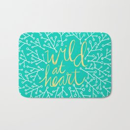Wild at Heart – Turquoise Bath Mat