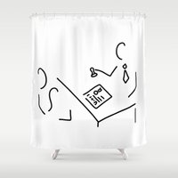 lawyer Shower Curtains featuring notary public lawyer by Lineamentum