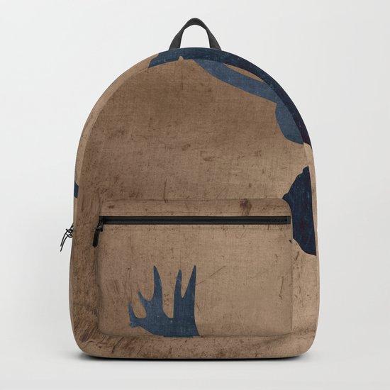 Grunge Deer Stag Simple Illustration for Men Backpack