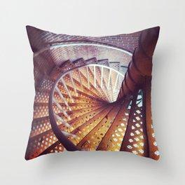 Spiraling down  Throw Pillow