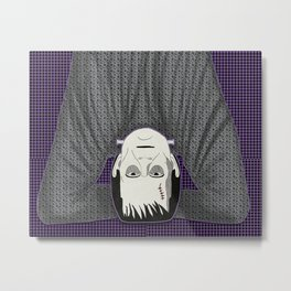 Frankenstein head stand Metal Print